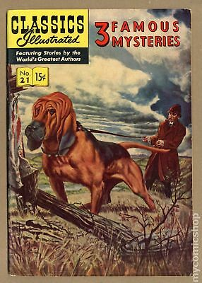 Classics Illustrated 021 3 Famous Mysteries #7 1945 VG/FN 5.0