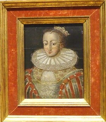 Fine 16th Century English Old Master Queen Princess Court Lady Portrait Painting