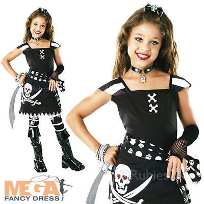 Pirate Scarlet Girls Fancy Dress Halloween Book Week Kids Childs Costume Outfit