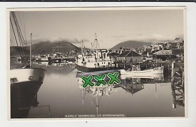 W.hourston Stromness Photo ? Postcard - Early Morning At Stromness ( Orkney )