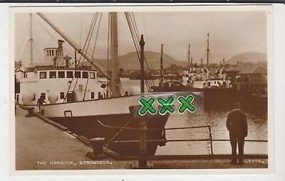 Valentines B6114 Photo Postcard - The Harbour, Stromness ( Orkney )
