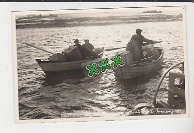 W.s.baikie Photo ? Postcard - Stromness Lifeboat Loading Provisions At Skaill ??