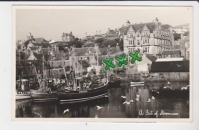 W.s.baikie Photo ? Postcard - A Bit Of Stromness, Orkney ( Incl Fishing Boats )