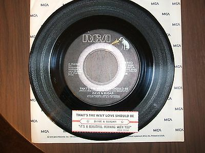 Dave & Sugar On 45 Rpm  - Thats The Way Love Should Be -  Nm