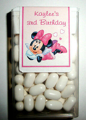 14 Minnie Mouse Birthday Party Favors Tic Tac Labels ~ Personalized