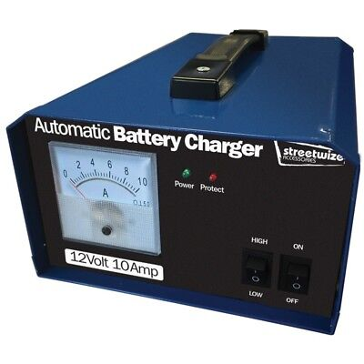 Streetwize Battery Charger, 12v 10 Amp