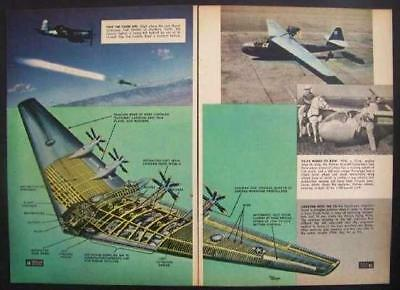 Northrup XB-35 Flying Wing 1947 Cutaway View pictorial