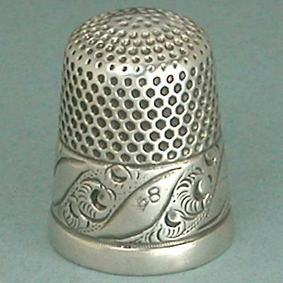 Antique Sterling Silver Thimble by H. Muhr's Sons * Circa 1890s