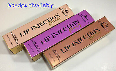 Too Faced Glossy Lip Injection Juicy Color Plumping Lip Gloss 0.14 oz - 5 shades