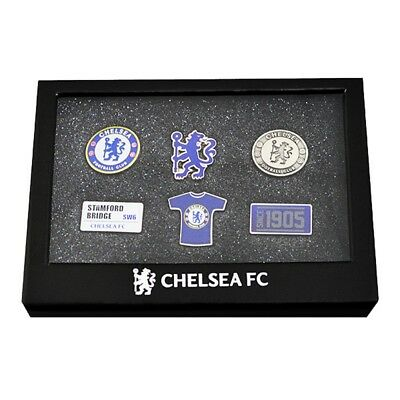 Chelsea F.c. 6 Piece Badge Set Official Merchandise - Fc Football New Gift