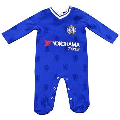 Official Chelsea Fc Baby Kit Sleepsuit/babygrow - 2016/17 Season (12-18m) -