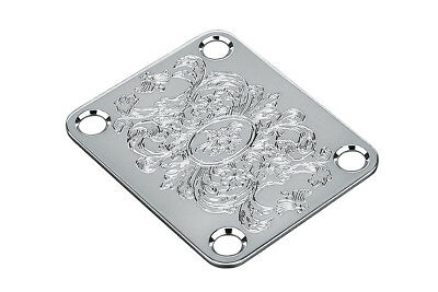 NEW Gotoh Engraved NECK PLATE for Fender Strat Tele Chrome Parts AP-0603-010
