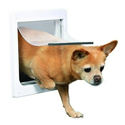 Trixie Pet Products 2-way Locking Dog Door, X-small To Small Dogs, White - Door