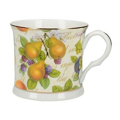 6098abf3de6 Royal Harvest Fine Bone China Footed Palace Mug With Gold Rim By Creative  Tops