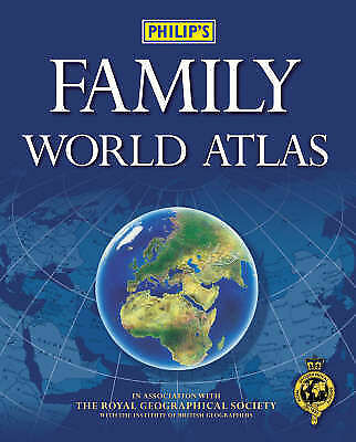 No author stated, Philip's Family World Atlas, Hardcover, Very Good Book
