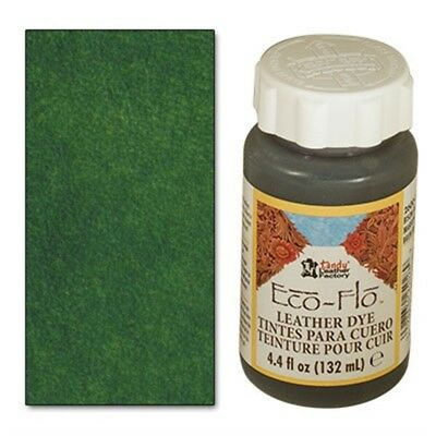 4oz Forest Green Eco Leather Dye - 44 Fl Oz 132ml Ecoflo Multiple Colours Free