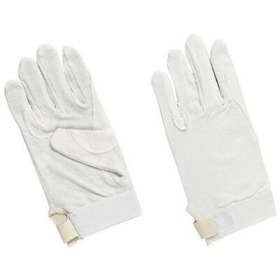 Matchmakers Harry Hall Pimple Grip Gloves - White, Medium - Cotton Riding Horse