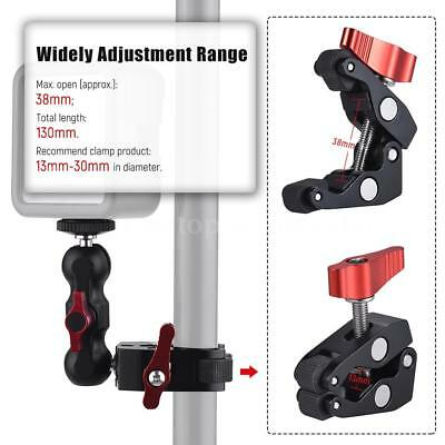 Andoer Multi-function Ball Head Clamp Ball Mount Clamp Magic Arm Super P6G7