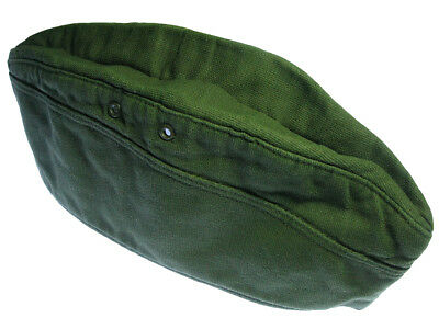German Military WW2 Army Hat/Cap. Vintage. Dyed Dark Green. No badges/Insignia.