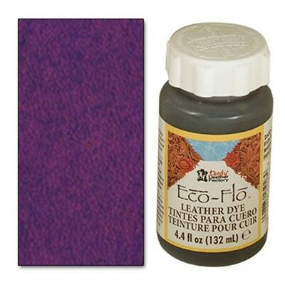 Eco-flo Leather Dye 4 Oz Deep Violet Leather Colour Leathercraft Tandy 2600-15