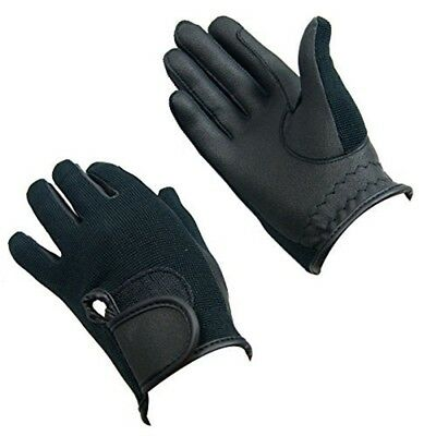 Bitz Horse Rider Bitz Synthetic Gloves Adult Black Small Horse Riding Wear -