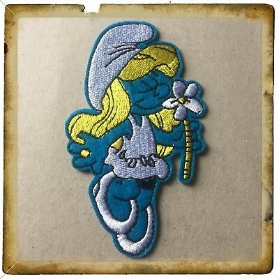 Smurfs/smurfette Patch Embroidered Sew On/stick On Clothing/Brand New