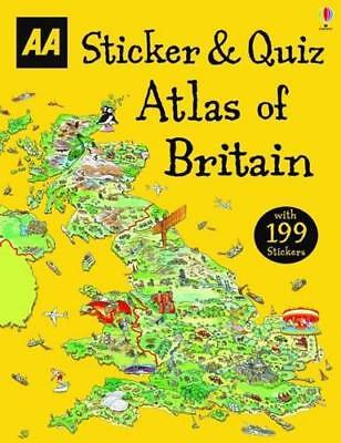 Sticker & Quiz Atlas of Britain (Activity Books) by AA Publishing | Paperback Bo