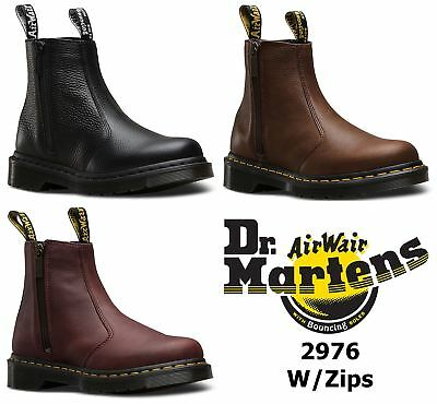 Dr martens womens 2976 chelsea boots with zips - cherry red