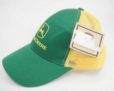 Genuine John Deere Trucker Hat Green and Yellow Snap Back RN45724 New With Tag