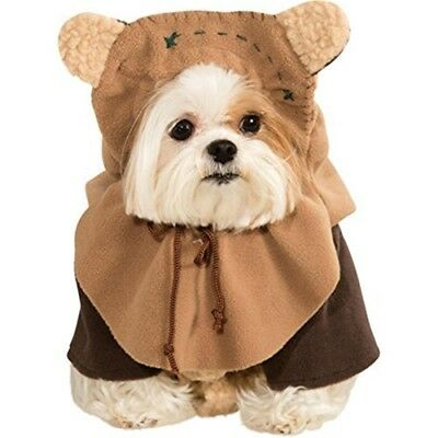 """Rubie's Official Star Wars Ewok Pet Dog Costume Small, Neck To Tail 11"""", Chest"""