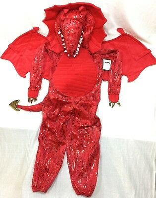 Pottery Barn Kids Red Dragon Costume 7-8