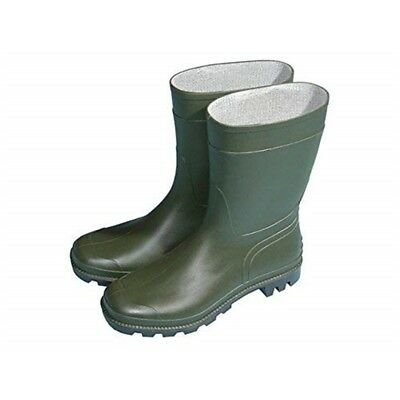 Town & Country Essentials Half Length Wellington Boots - Green, Uk Size 7 -