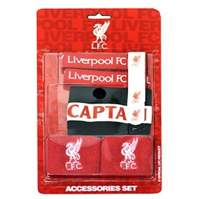 73fa1be58 Liverpool Accessories Set - Official Fc Ties Wristbands Captain Football  Gift