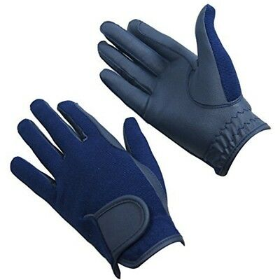 Bitz Horse Rider Bitz Synthetic Gloves Child Navy Small Horse Riding Wear -