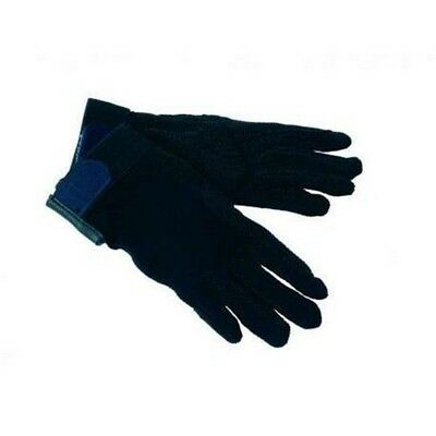 Bitz Pimple Palm Gloves (small) (navy) - Horse Cotton Riding Rider Wear