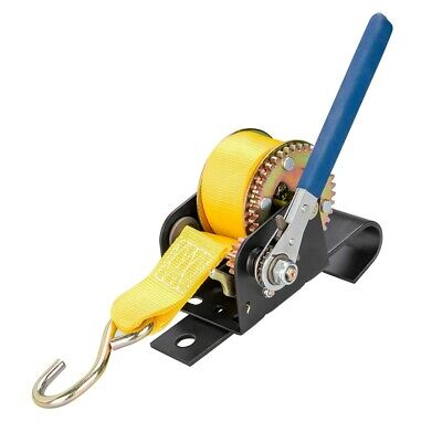 900 lbs  Hand Pull Winch Chain Hoist Steel Cable Rigging J Hook