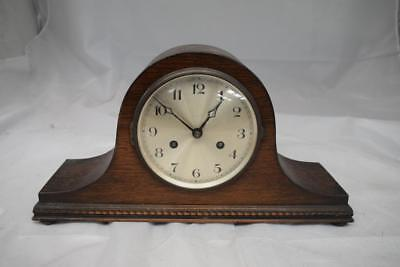 Wooden Napoleon Hat Chiming Mantel Clock (1920-40s)
