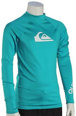 Quiksilver Boy's All Time LS Rash Guard - Typhoon - New