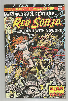 MARVEL FEATURE # 2 * RED SONJA * 1975 * FRANK THORNE art
