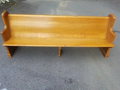 oak church pew really good condition