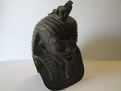 Vintage - Antique Egyptian Revival Sculpture Brass Bronze Metal Large Life Size