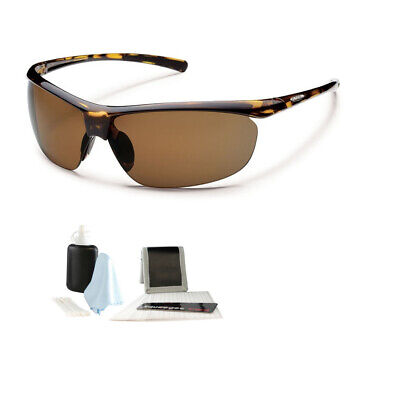 a61127943fd Suncloud Zephyr Polarized Sunglasses Tortoise Brown Polycarbonate +  Cleaning Kit