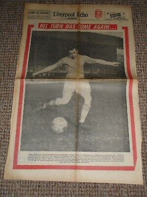 Jan 1962 Liverpool's Johnny Molyneux Liverpool Echo Paper With Beatles Article