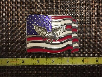 Harley Davidson Belt Buckle New Eagle Flag USA Pride Motorcycle Country