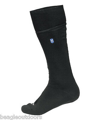 NEW Hanz Waterproof Lightweight Calf Socks Extra Large Black Breathable