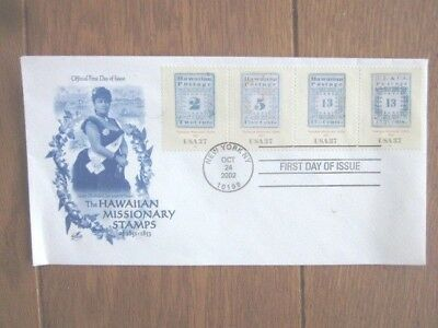 #3694 Hawaii Missionary Stamps 2002 Complete Set  Stamps Fdc
