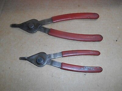 """6"""" & 7.5"""" Blue-Point Internal External Retaining Ring Pliers By Snap On Tools"""