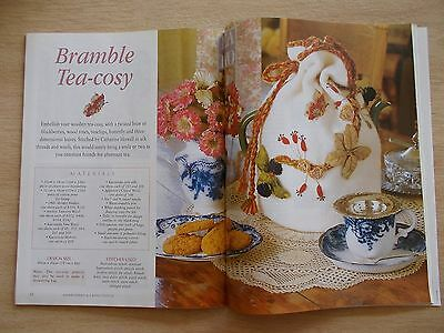 Embroidery & Cross Stitch Vol 8 #11~Pansies~Rooster~Etui~Tea Cosy~Smocking...