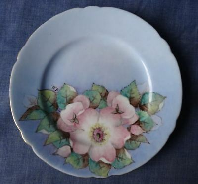 Vintage Hand Painted / Decorated Shelley Porcelain Dish / Plate, Flowers, Signed