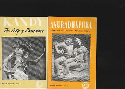 Kandy And Anuradhapura Ceylon 1954 Booklets-Ceylon Regional Series 4 & 5